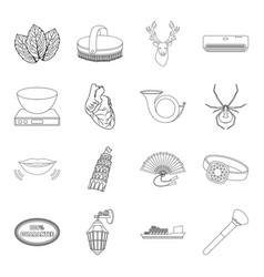cooking medicine travel and other web icon in vector image vector image