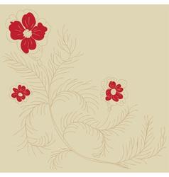 Doodle flowers2 vector