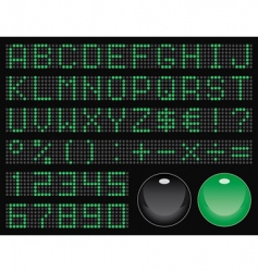 dot-matrix display font vector image vector image