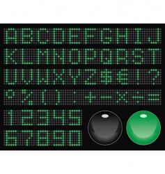 Dot-matrix display font vector