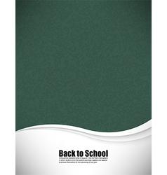 Empty realistic black board school in format vector image vector image