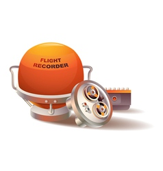 Flight Recorder vector image vector image