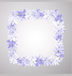 floral background for anniversary or wedding vector image