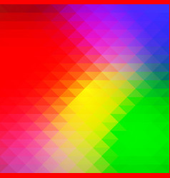 Green blue orange red rows of triangles vector