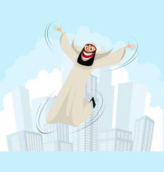 happy arab man vector image vector image