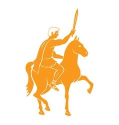 Horseback vector
