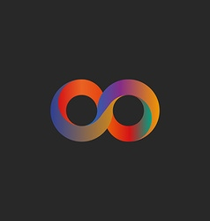 Infinity symbol geometric shape colorful mockup vector