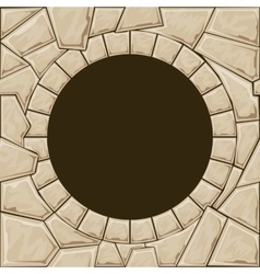 Round stone frame vector image vector image
