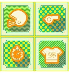 Seamless background with American football icons vector image vector image