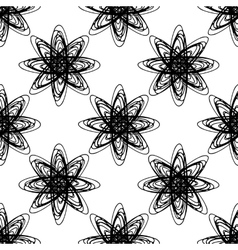 Seamless hand drawn pattern vector image vector image