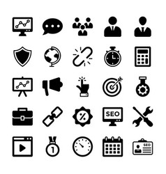 seo and digital marketing glyph icons 7 vector image