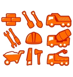 set construction icons vector image vector image