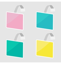 Set of square wobblers empty template flat design vector