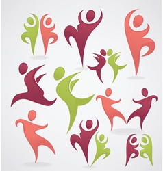 sport dance and healthy life vector image