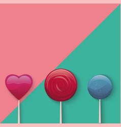 Sweet lollypop vector