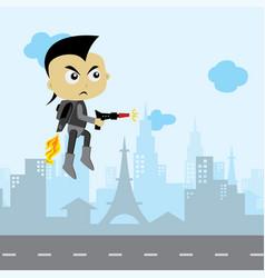 villain enemy game asset cartoon theme art vector image