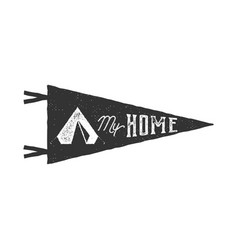 vintage hand drawn pennant template tent is my vector image