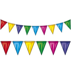 Party flags vector