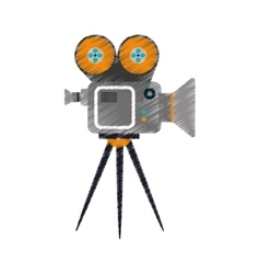 Cinema camcorder equipment vector image