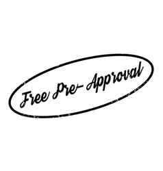 Free pre-approval rubber stamp vector