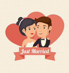 Bride and groom design vector