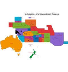 Colorful oceania map vector
