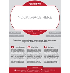 Creative corporate company flyer vector