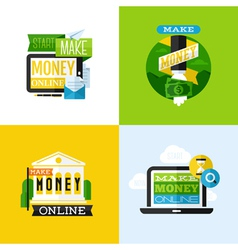 Flat design of make money concept vector