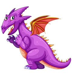 Purple dragon vector