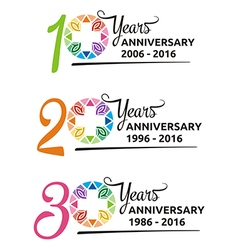 Abstract logo hospital anniversary colorful symbol vector