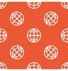 Orange globe pattern vector