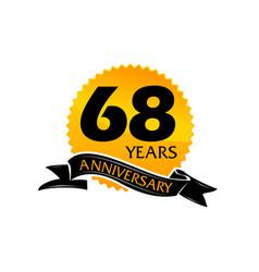 68 years ribbon anniversary vector image vector image