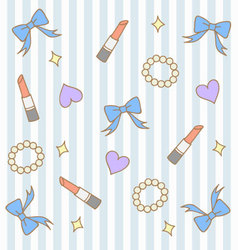 Cute blue pastel girly background vector