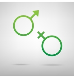 Sex symbol green icon vector
