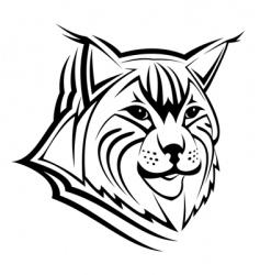 lynx mascot vector image