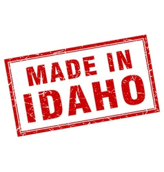 Idaho red square grunge made in stamp vector