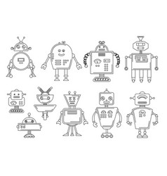 a robot mechanical vector image vector image
