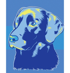 Blue Dog vector image vector image
