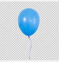Blue helium balloon isolated on transparent vector