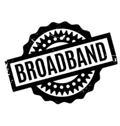 Broadband rubber stamp vector