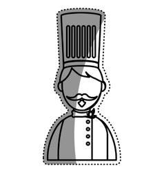 Chef hat profile vector