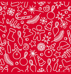 christmas decoration pattern vector image vector image