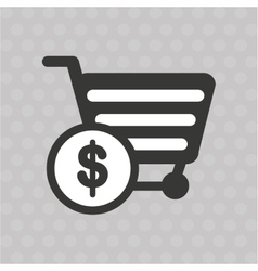 commercial icon design vector image vector image