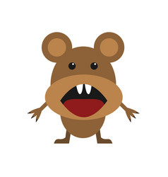 cute brown mouse vector image