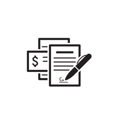 Documents icon flat design vector
