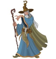 Fantasy style wizard vector