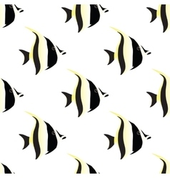 fish seamless isolated vector image