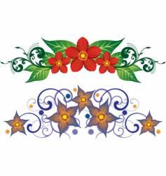 floral element design vector image vector image