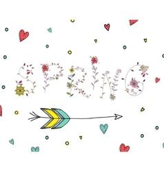 Floral elements of vintage phrase spring in vector