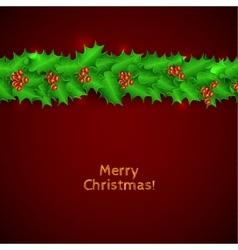 Green christmas garland of holl vector